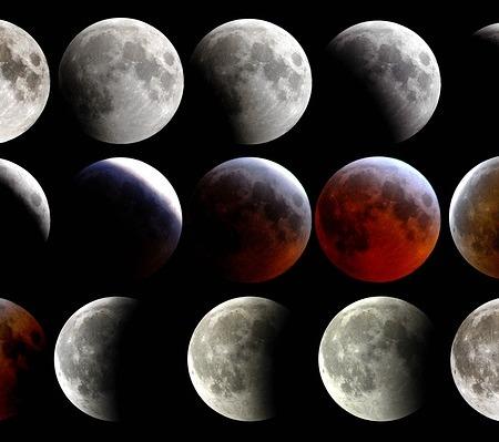 Total lunar eclipse blood moon supermoon